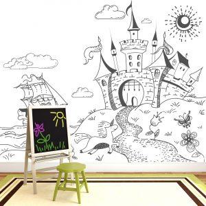 ארמון הנסיכה- טפט מחיק לחדר ילדים