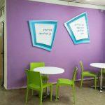אלמנטים מובלטים לקירות- עיצוב קירות בית ספר- עיצוב מרחבי למידה- אבי אריאלי