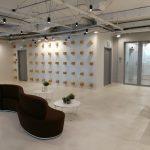 קיר מעוצב- עיצוב משרדי חברת medx- סטודיו אבי אריאלי