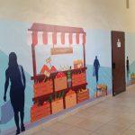 עיצוב קירות בית ספר- עיצוב מרחבי למידה- אבי אריאלי- ניתנים רמת גן