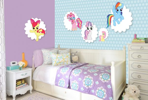 טפט לילדים- טפט פוני קטני- עיצוב חדרי ילדים- אבי אריאלי