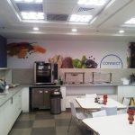 עיצוב קירות קפיטריה- עיצוב קירות משרדי חברת INTEL- אבי אריאלי