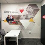 עיצוב קירות משרדי חברת DOW